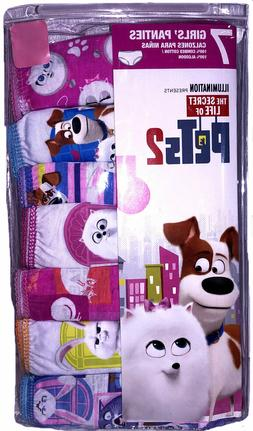 NEW Girls Secret Life of  Pets 2    7 Pack Cotton Brief Unde