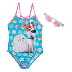 NEW Girls The Secret Life of Pets 1 pc Bathing Swim Suit siz