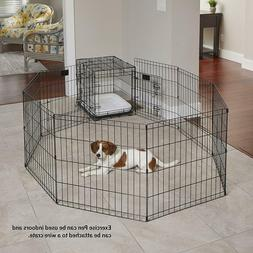 Midwest Foldable Metal Exercise Pen Gate Pet Baby Dog Barrie