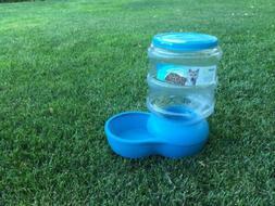 NEW Aspen Pet Lebistro Auto Gravity Feeder Blue 10 Pound Cap
