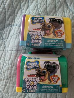 New Lot Of 2 Disney Junior PUPPY DOG PALS Series 4 Travel Pe