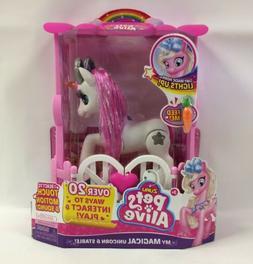 New Zuru Pets Alive My Magical Unicorn & Stable Battery-Powe
