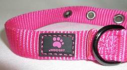 "Top Paw New Pink Dog Pet Collar 8-12"" Strap XS-S Adjustable"