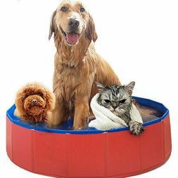NEW Portable Pet Swimming Pool Bath Dog Cat Indoor Outdoor A