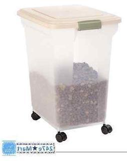 NEW! IRIS Premium Airtight Pet Food Storage Container, Almon