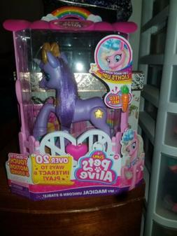 New Purple Pets Alive My Magical Unicorn And Stable. Interac