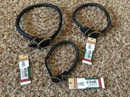 New w/Tags*Coastal Pet Products Circle T Black Rolleed Leath