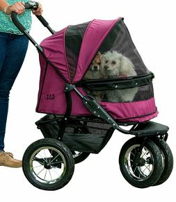 Pet Gear NO-ZIP Double Pet Stroller in 2 Colors with 90 poun