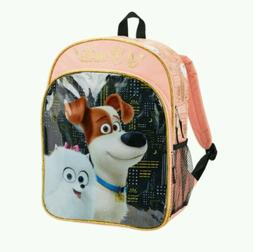 "The Secret Life of Pets NWT 16"" Backpack w/Side Mesh Pockets"