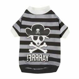 "NWT Casual Canine Dog Puppy PirateTee Shirt XS 10"" Length YA"