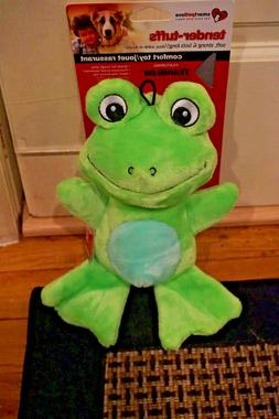 NWT SMART PET LOVE DOG TOY TUFF COMFORT  GREEN FROG