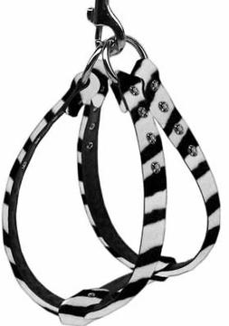 NWT Mirage Pet Products Dog Harness Step In Zebra Print Rhin