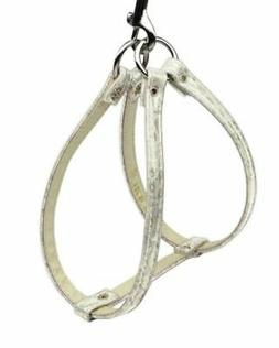 NWT Mirage Pet Products Dog Harness Step In Ivory Snake Skin