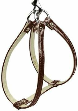 NWT Mirage Pet Products Dog Harness Step In Brown Faux Croco