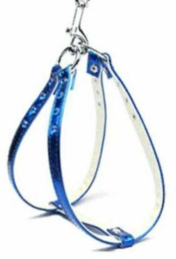 NWT Mirage Pet Products Dog Harness Step In Metallic Blue Rh
