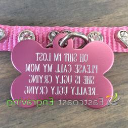 Oh Sht Ugly Crying Pet Tag   Dog ID tag   Pet ID Tag   Funny