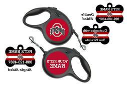 Ohio State Buckeyes Pet Id Dog Tag & Retractable Leash Perso