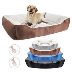 Orthopedic Pet Calming Bed Soft Warm Cat Dog Nest House Smal