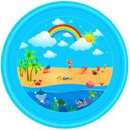 Outdoor Spray Play Pad for Kids Pets Splash Pad Mat Water Wa