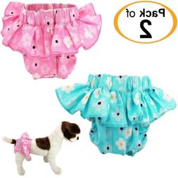 PACK of 2 COLORS Dog Cat Diapers Female Skirt Ruffles For SM
