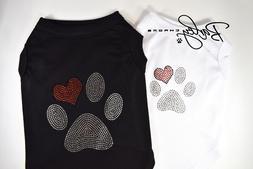 Paw Rhinestone Dog Pet Shirt T-Shirt Tank Top