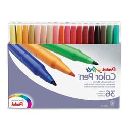 Pentel Color Pen, Set of 36, Assorted