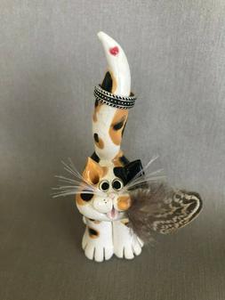 Pence Pets ORIGINAL, clay cats, cat figurines, hand sculpted