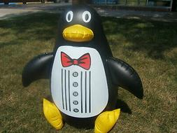 """PENGUIN FLOATING INFLATABLE 33"""" TALL SWIMMING POOL PET POOLM"""