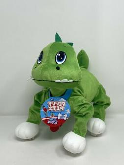"Peppy Pets 11"" Inch Bouncy Walking Dinosaur Plush with Leash"