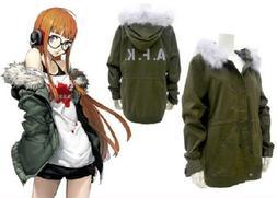 Persona 5 Sakura Futaba Flight Jacket size Large free shippi