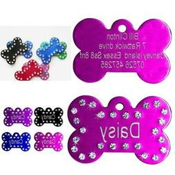 Personalised Dog Tags Engraved Pet Puppy Cat Name ID Tag Bli
