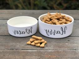 Personalised name pet bowl Cat Dog Food Water 15.5cm & 18cm