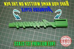 Personalised Named Pen 3D Action Hero Style Kids Man Woman B
