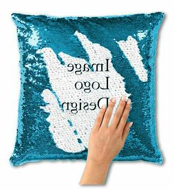 Personalize Your Own Sequin Pillow | Upload a Photo or Inqui