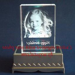Personalized 2D or 3D laser etched engraved custom photo cry