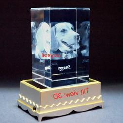 Personalized 3D laser photo crystal engraving custom photo c