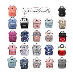 Personalized baby Diaper bag knapsack /Backpack monogram mom