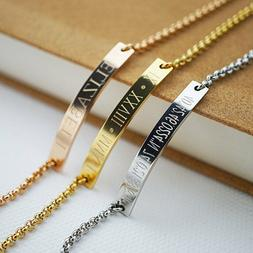 Personalized Bracelet Name Bar Bracelet Custom Engraved Any
