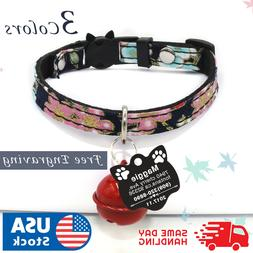 Personalized Cat Adjustable Collar Name for Pet Kitten with