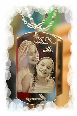 Personalized custom necklace, dog tag pendant with image, pi