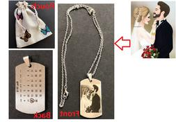 PERSONALIZED CUSTOM PHOTO DOG TAG ENGRAVED JEWELRY NECKLACE