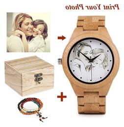 Personalized Custom Photo Wooden Watches For Men, Gifts For