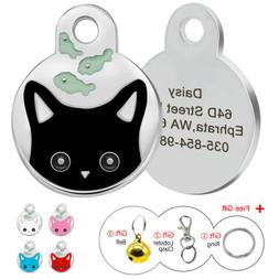Personalized Dog Cat Cute Face Tags Disc Pet ID Name Collar