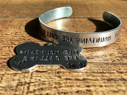 personalized matching bracelet cuff and pet ID,handmade dog