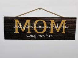 Personalized Mom Rustic Wood Sign, Mothers Day, P136, Gift,