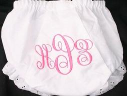 Personalized Monogrammed Diaper Cover Bloomer 3 Initial Fanc