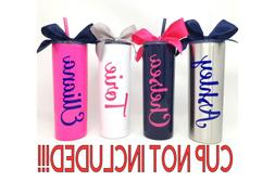 Personalized Name Custom Vinyl Decal For Your Tumbler Water
