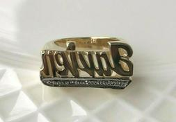 Personalized Name Ring in Real 10K or 14K Gold with Bit Work