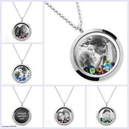 Personalized Photo & Message Engrave Floating Crystals Locke