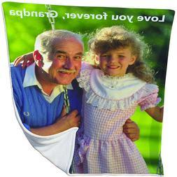 Personalized Photo Fleece Blanket Pics Custom Throw Family B